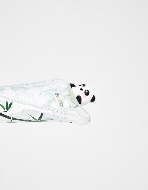 Прозрачный чехол «Панда» для iPhone 6plus/ 7plus/ 8plus