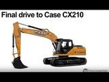 CASE CX210 Final drive, zwolnica, Хидромотор, бортовая, Endantrieb, moteur de chenille, B