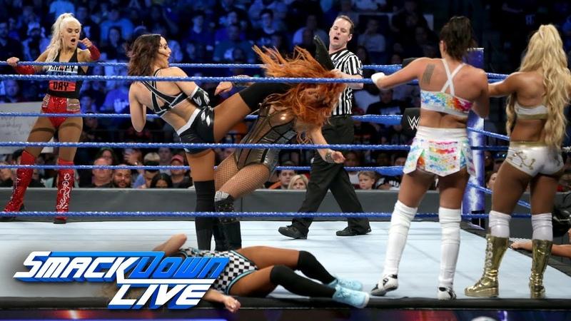Ten-Woman Tag Team Match SmackDown LIVE, June 12, 2018
