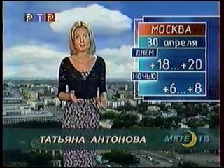 Прогноз погоды и конец эфира (РТР, 30.04.2001)
