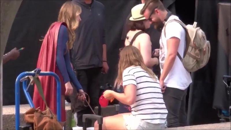 Мелисса, Фарли и Кэти на съёмках