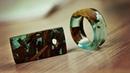 Кольцо и кулон Кораблекрушение из эпоксидной смолы и дерева своими руками