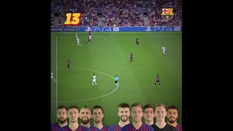 22 передачи за минуту и гол. Великолепная Барселона