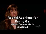 Glee - Rachel Auditions for Funny Girl  Sweet Dreams (Subtitled) HQ