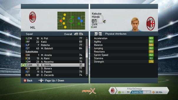 Actualización plantillas FIFA 14