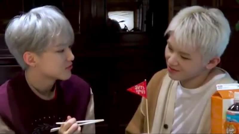 [181106] Hoshi is feeding Woozi
