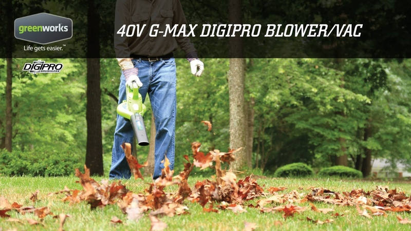 Greenworks G-MAX 40V DigiPro Brushless Blower-Vac | Overview
