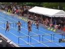 Шустрый забег на 100 метров с барьерами у женщин