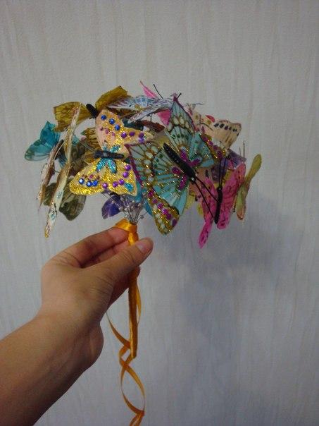 Бабочки для украшения букетов своими руками 98