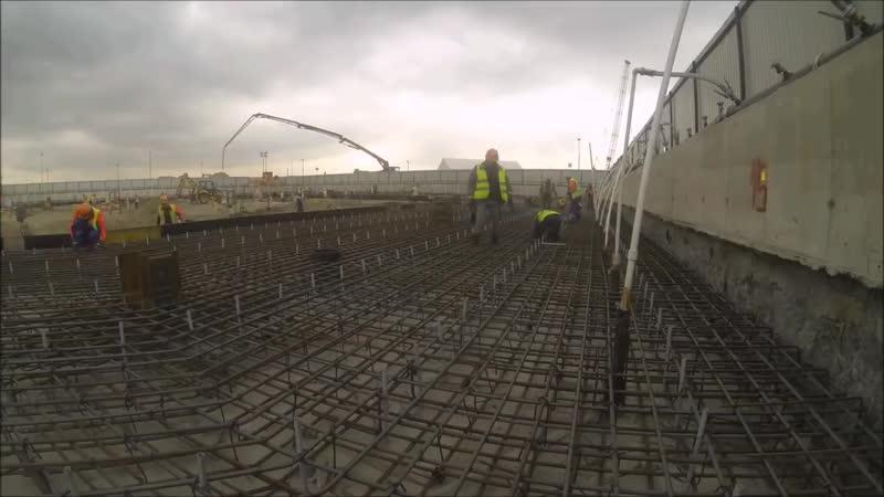 Строительство Лахта Центра Котлован под фундамент небоскреба