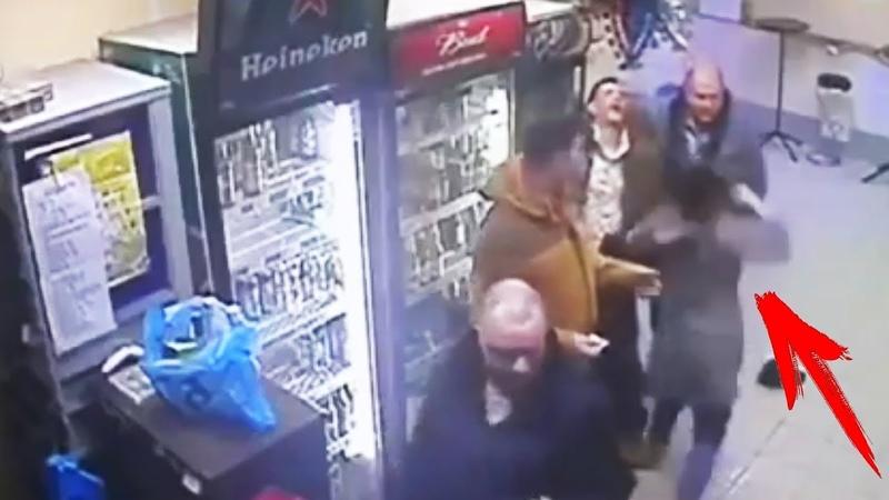 Хрупкая девушка продавец вырубила с удара БУЙНОГО. Приколы в магазине! Гусь Хрустальный