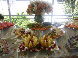 Фуршет на свадьбу у невесты