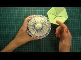 Как сделать цветок розетку из бумаги своими руками - Скрапбукинг мастер-класс / Aida Handmande