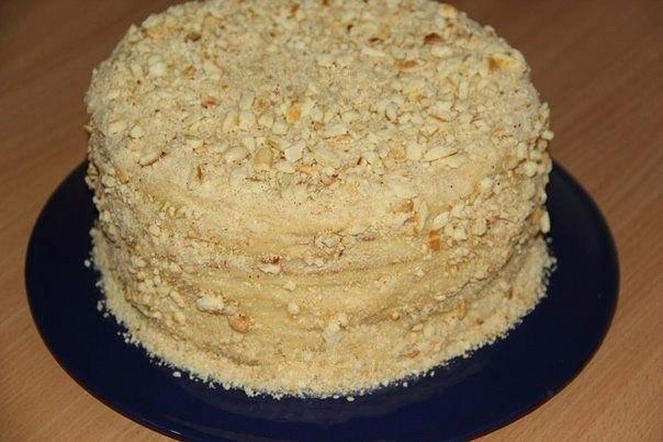 Торт со сгущенкой на сковороде. Рецептом этого торта