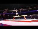 Last rotation of senior podium training UEG European Union of Gymnastics