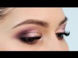 Вечерний макияж в лилово-фиолетовых тонах