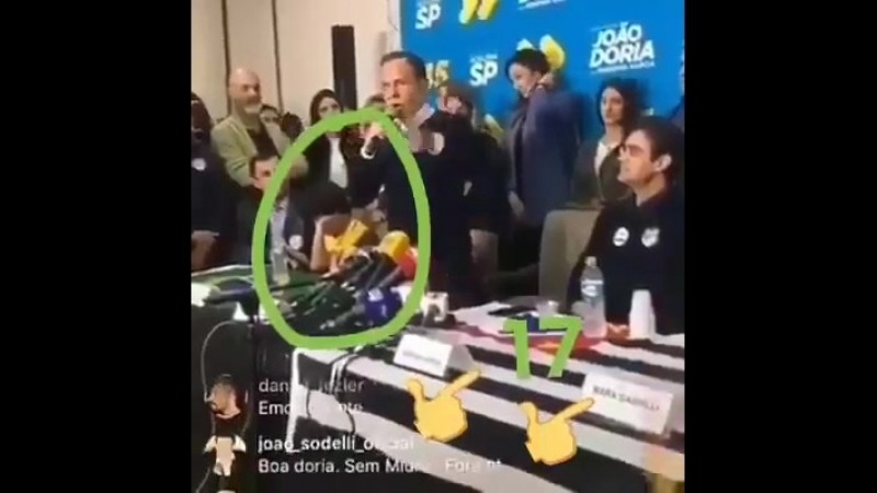 Olha a reação do garoto quando o Dória declarou apoio ao Jair Messias Bolsonaro