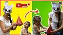ВЛОГ - заяц в гостях у Никки. Распаковка Киндер Сюрприза. Видео для детей