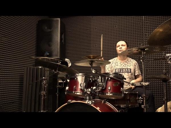 Vitaliy Polaykov - drum set fills and triplet exercises, phrasing 11/8 - 13/8