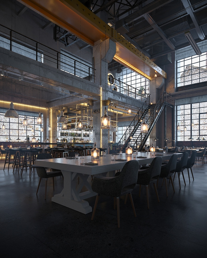 Industrial bar and restaurant