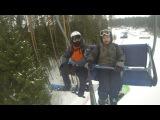 Врач и я на сноубордах в логойске