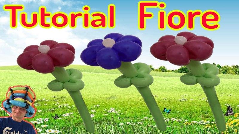 PALLONCINI MODELLABILI tutorial 51 fiore (6 petali) Balloon Twisting - globoflexia