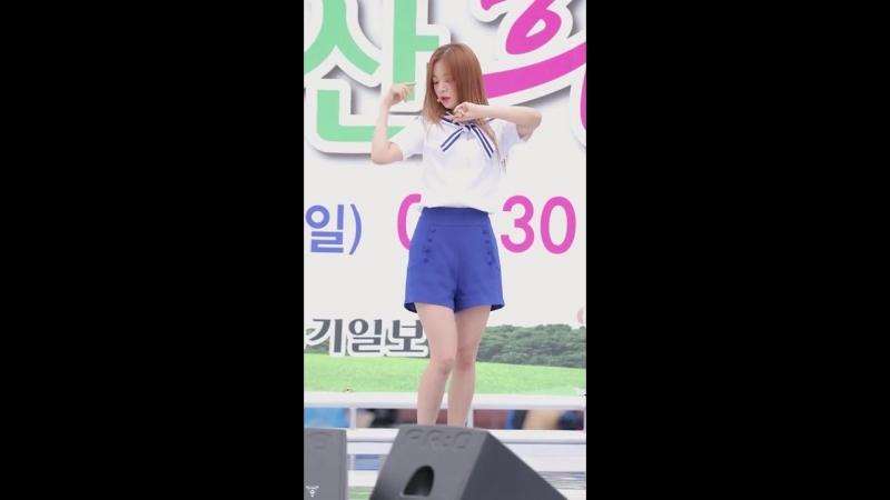 [4K] 180916 프로미스나인 이채영 직캠 (fromis_9) - 22세기 소녀 @안산 희망 마라톤대회 _Fancam By 쵸리(Chori)