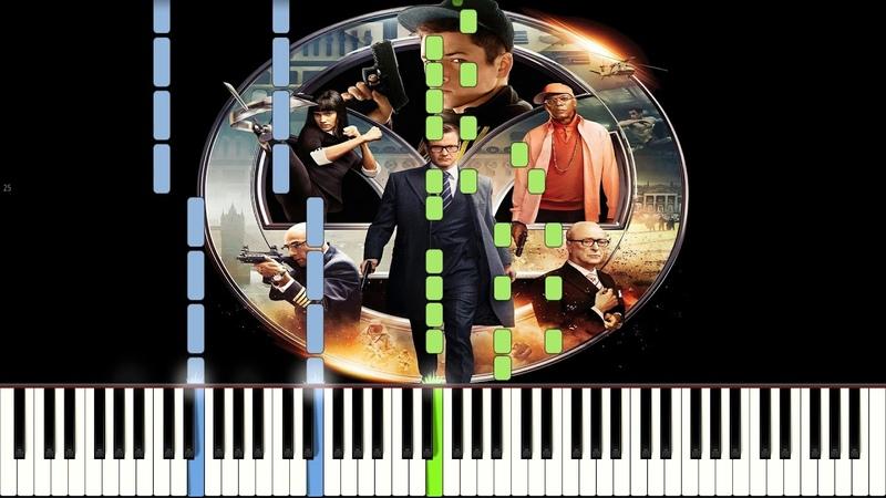 Kingsman: The Secret Service (Piano Tutorial) [Synthesia]