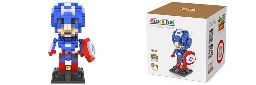 """Конструктор LOZ Diamond Block iBlock Fun """"Капитан Америка"""" 9452"""