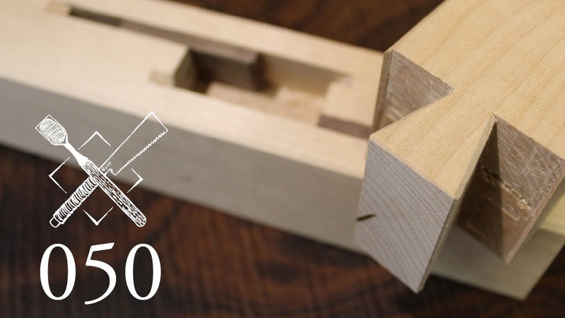 Joint Venture Ep. 50: Blind keyed dovetail joint Shinozashi ari shikuchi (Japanese Joinery)