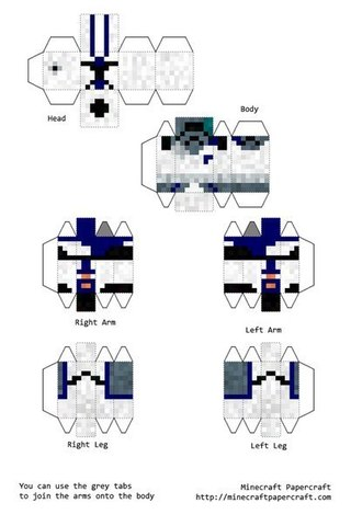 Как сделать из бумаги из майнкрафта чертежи