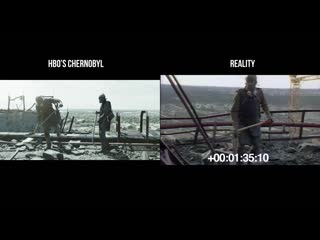 Hbos chernobyl vs reality - footage comparison