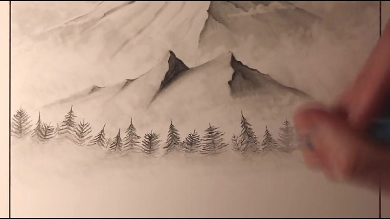 How_to_Draw_a_Mountain_Stream_Landscape