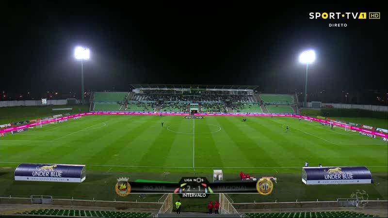 Чемпионат Португалии 2018-19 / 9 тур / Риу Аве – Насьонал / 2 тайм [720, HD]