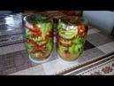 Безумно Вкусный Салат на Зиму из Зелёных Помидоров Без Варки и Без Стерилизации