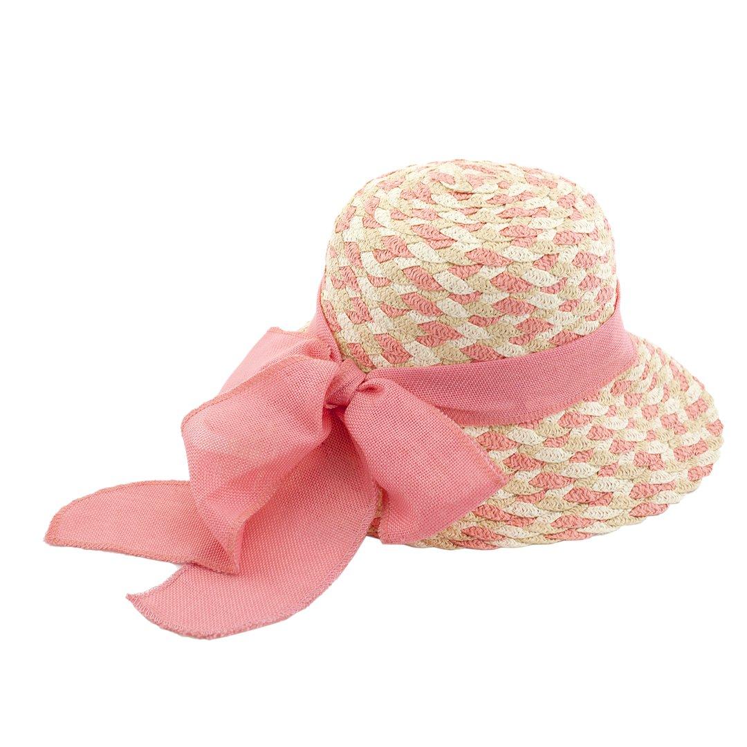 Яркая шляпка с большим бантом в Фикс Прайс