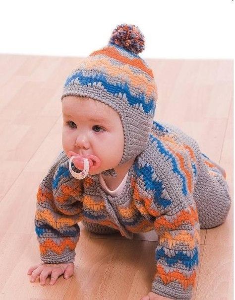 гортензия из бисера схема плетения.  Костюмчики для новорожденных со схемами вязания - Вяание.