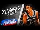 DeMar DeRozan Full Highlights 2018 10 22 Lakers vs Spurs 32 Pts 14 Asts FreeDawkins