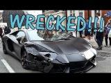 LAMBORGHINI AVENTADOR CRASHED: Supercar Wreck in London