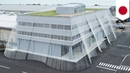 Earthquake proof Japan building made quake safe by curtain of cables anchoring it down TomoNews