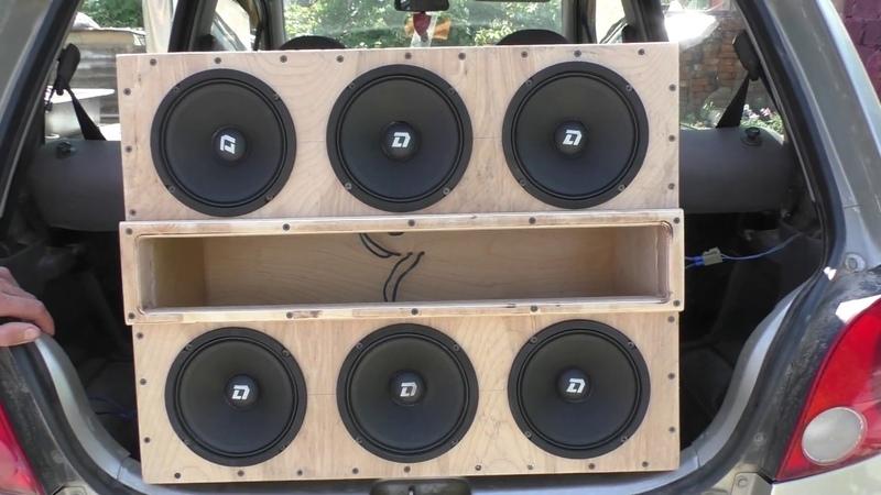 6 динамиков Dl Audio Phoenix Hybrid Neo 165 в коробе фи от штатной магнитолы в 1 33ома