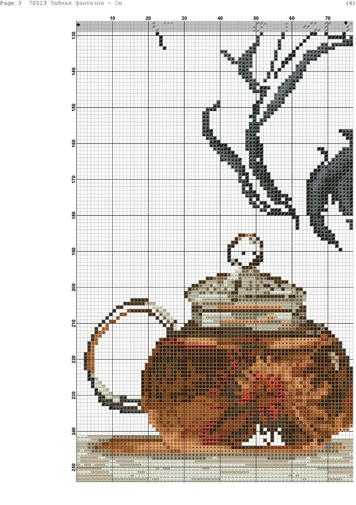 Вышивка крестом чайная фантазия схемы
