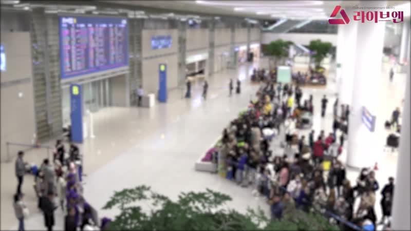 [liveen TV] 방탄소년단(BTS), 기다림만으로도 심장 터질 듯한 매력 (공항패션)