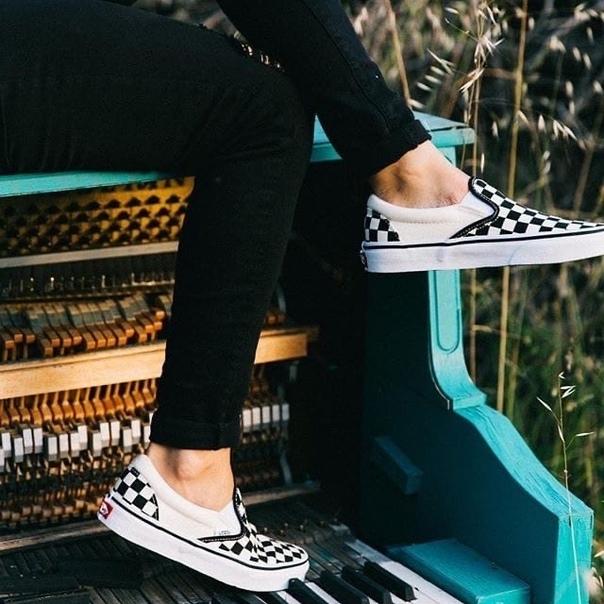 Кеды Vans Slip-On White/Checker