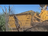 Modern Biggest Dozer At Work Ploughing Scrub