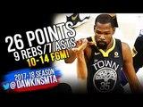 Kevin Durant Full Highlights 2018 Finals GM2 Golden State Warriors vs Cavs - 26-9-7! FreeDawkins