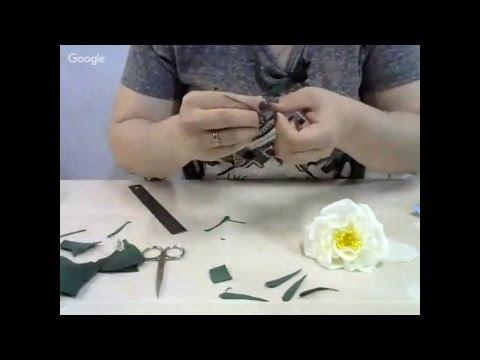 Юлия Дерюгина Цветок шиповника из фоамирана (на фурнитуре)