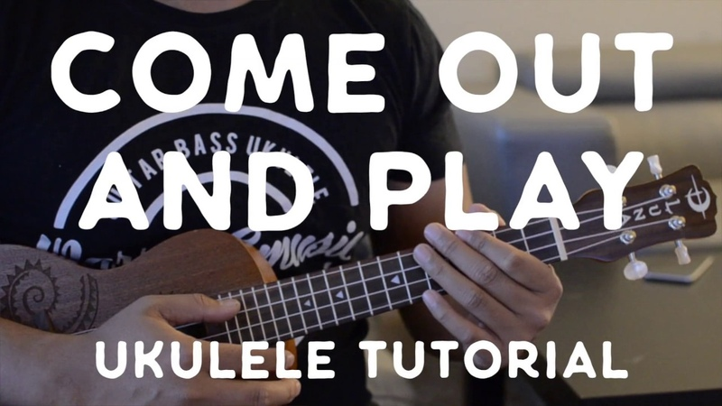 Come Out and Play (Ukulele Tutorial W Picking) - Billie Eilish