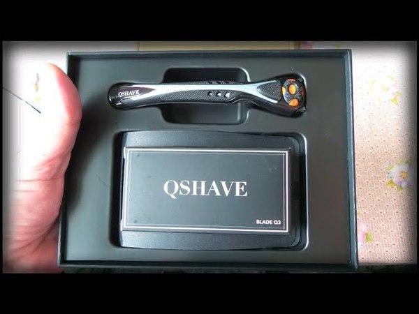 Бритвенный станок Qshave в подарочной упаковке / Shaving machine Qshave in a gift box