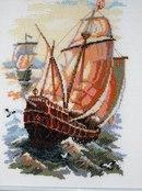 Часть 7. Морской пейзаж.Вышивка.  Маяк.  Вышивка крестом, схемы.